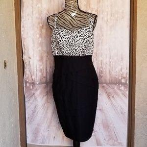 NWOT Torrid leopard pencil skirted dress size 18
